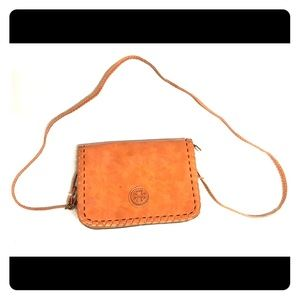 Tory Burch Brown Leather Flap Shoulder Bag Purse